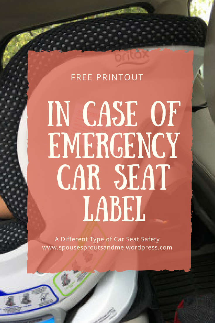 ICE Car Seat Label