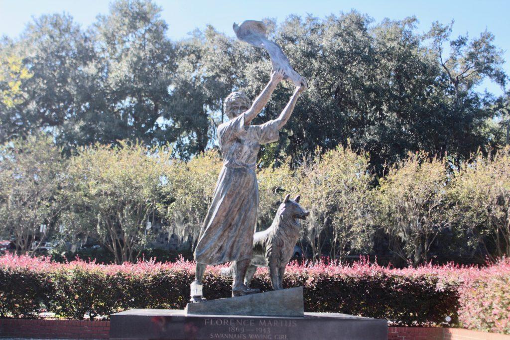 Travel Guide: Savannah, GA - Waving Girl Statue - www.spousesproutsme.com