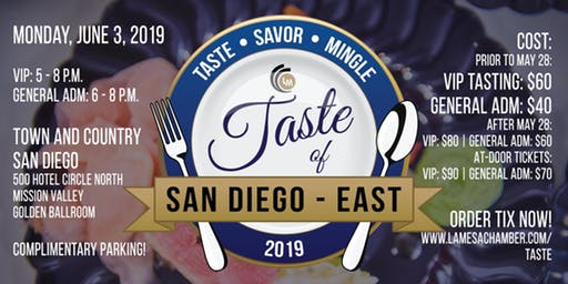 Taste of San Diego - East Logo