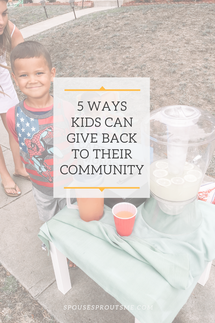 5 ways kids can give back - www.spousesproutsme.com