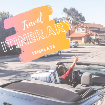 Travel Itinerary Template - www.spousesproutsme.com